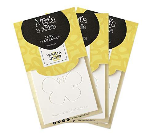 tessere profumate appendibili per armadi e cassetti kit da 3pz profumazione vaniglia e zenzero Marta La Farfalla