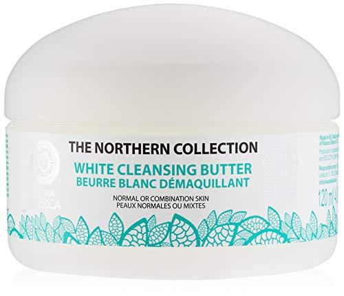 Natura Siberica Burro Bianco Detergente e Struccante Viso, per Pelli Normali e Miste - 120 ml