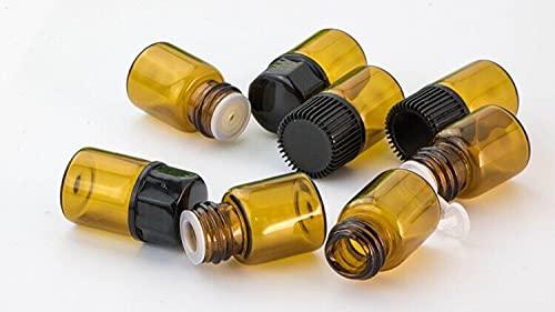 Minyose 50 pz 1 ml / 2 ml / 3 ml / 5 ml DRAM Ambra Bottiglia di Olio Essenziale di Vetro Vetro Sottile Piccolo Marrone Profumo di Olio Fiale di Bottiglia di Prova di Campione Vasetti
