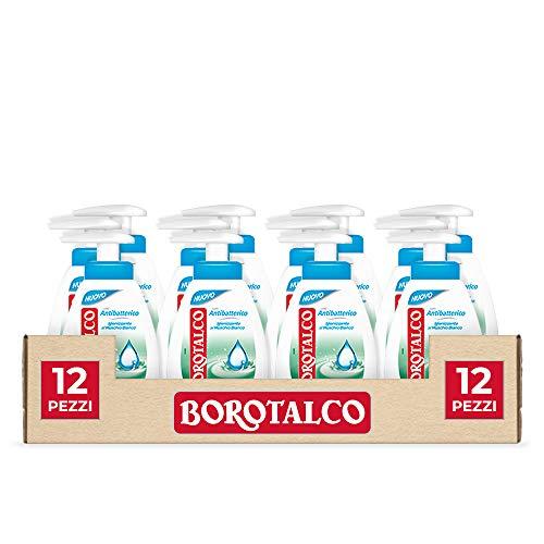 Borotalco Sapone Liquido Antibatterico 250 ml, 12 Pezzi