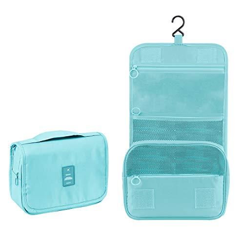 Beauty Case da Viaggio,Appeso Trousse da Toilette,Multi-compartimenti per Organizzare Oggetti Personali,Accessori(Blue)