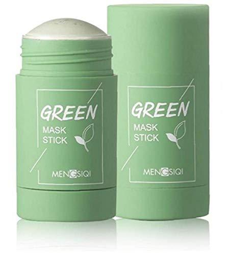 Yililay Verde Fango di depurazione Fango Stick Maschera di Pulizia Profonda e idratazione del Viso Acne Blackhead Mask tè Verde (tè Verde)