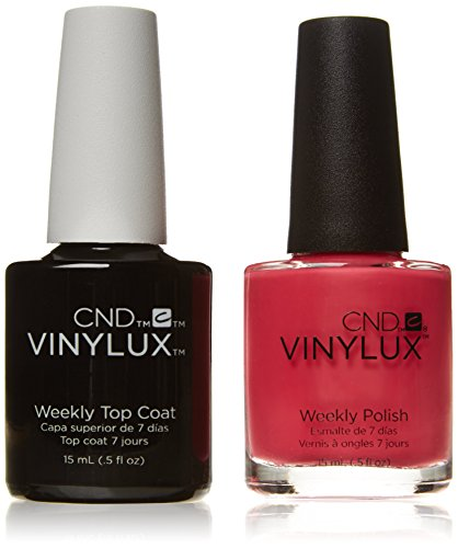 CND Vinylux Duo Top Coat Plus Smalto per Unghie, Pink Bikini - Confezione da 2 x 15 ml