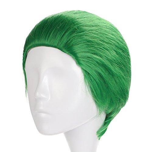 CoolChange Parrucca di Alta qualitá di Suicide Squad di Joker/verde/20cm