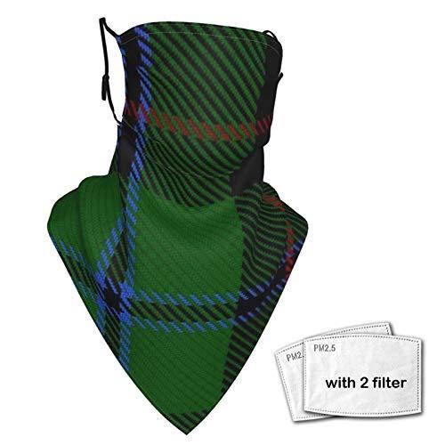 Scudo per il viso Magic Headwear Douglas (Nero) Tartan Grande Unisex Varietà Sciarpa Avvolgere Bandanna Copricapo Ghette Collo Sciarpa Maschera Viso Maschere