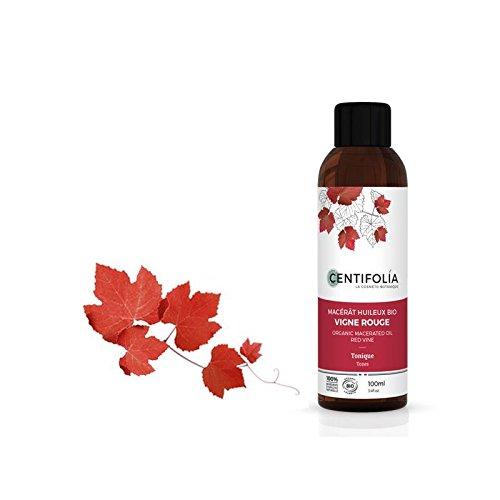 CENTIFOLIA - Macerato Bio di Vite Rossa - Tonificante, Antiossidante - Ideale per Capillari Fragili, Gambe Pesanti, Cellulite - 100 ml
