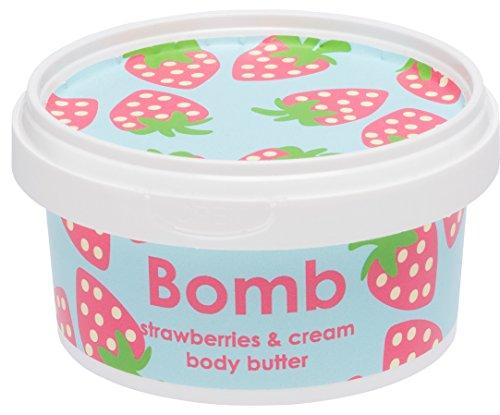 Bomb Cosmetics Body Butter fragole e crema di ylang ylang e olio di rosa