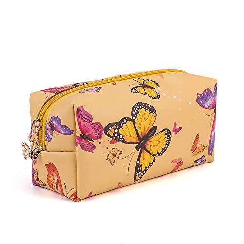 Beauty Case da Viaggio Borsa per Toilette Uomo Donna per Valigie Bagaglio make up Borsa Cosmetica Unisex Toiletry Bag Borsa da Viaggio per Lavaggio,farfalla gialla