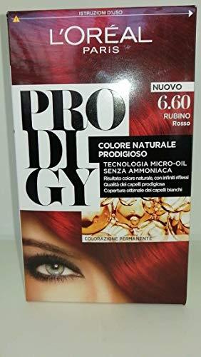 L'Oréal Paris Colorazione Permanente per Capelli Prodigy, 6.60 Rubino Rosso