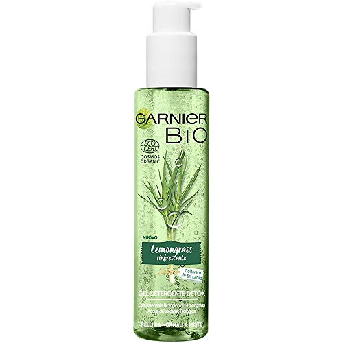 Garnier Bio Gel Detergente Lemongrass Rinfrescante, Gel Detergente Struccante Naturale Bio Arricchito con Lemongrass Rinfrescante, 150, Confezione da 1