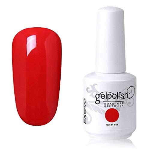 Elite99 Smalto Semipermente per Unghie in Gel UV LED Smalti per Unghie Soak Off per Manicure Rosso 15ML - 1022
