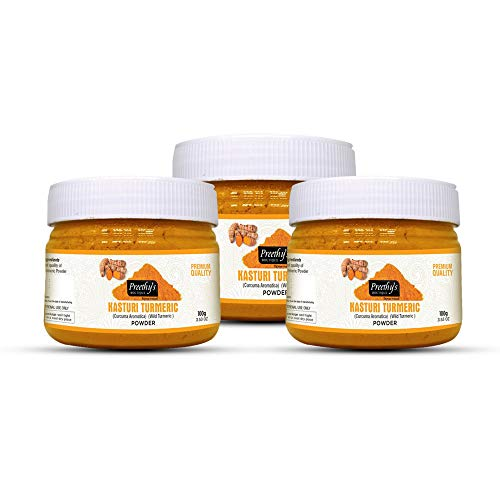 Curcuma Kasturi di qualità premium (curcuma selvaggia) (polvere di Kasturi Haldi) polvere 300gm