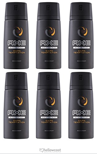 6 Axe Deodorante Spray Dark Temptation 150 Ml