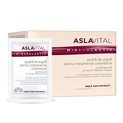 Aslavital - Polvere di Argilla per trattamenti di Bellezza - Tipo di pelle: Secca Mista Grassa Normale Sensibile Acneica Disidratata Matura (10 x 20 g)