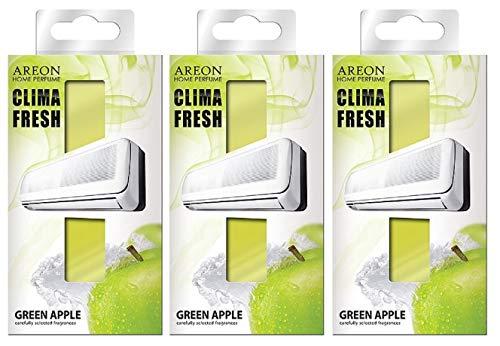 Areon Clima Deodorante Ambiente Mela Verde Filtri Condizionatori Profumati Casa ( Green Apple Set di 3 )