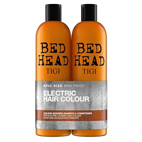 Tigi Bed Head Color Goddess Duo Pack per capelli colorati (shampoo 750ml e balsamo 750ml)