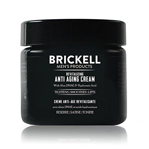 Brickell Men's Products Crema Rivitalizzante Anti-invecchiamento, Naturale ed Organica, Crema Viso Notte Anti Rughe – Non profumata, 2 once