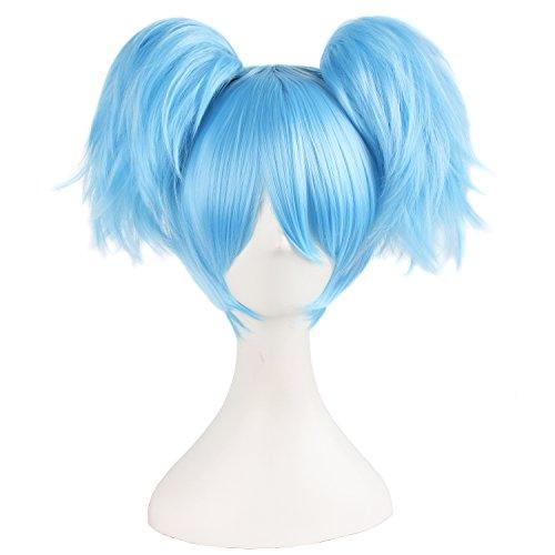 MapofBeauty 12'/30cm Corto Lisci Uomo Intrecciato Parrucche (Azzurro)