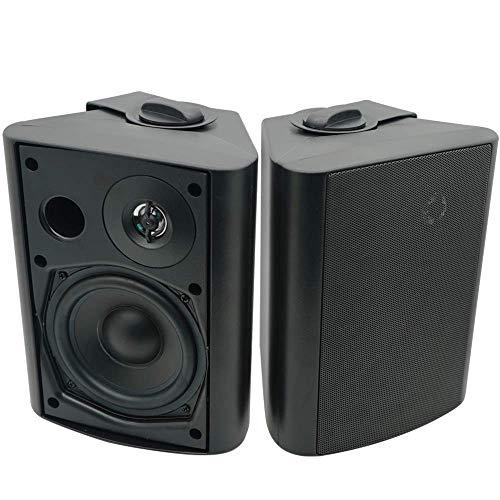 Herdio - Altoparlanti Bluetooth per esterni, 12,7 cm, con bassi potenti, sistema di montaggio a parete