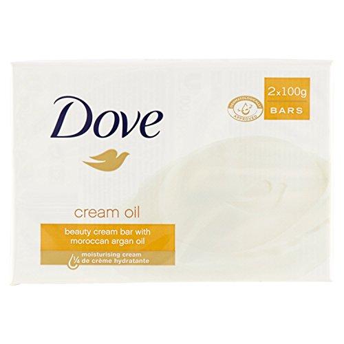 Dove - Sapone, Detergente di Bellezza con 1/4 di Crema Idratante - 200 g (Confezione da 2)