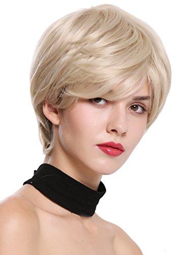 WIG ME UP - IG ME UP-IRIS-22H613 Parrucca Donna Corta Folta Volume Liscia Biondo Biondo Platino Mèches