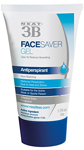 Neat Feat 3B Face Saver Antiperspirant Gel for Facial Perspiration and Shine, 1.76 Fluid Ounces