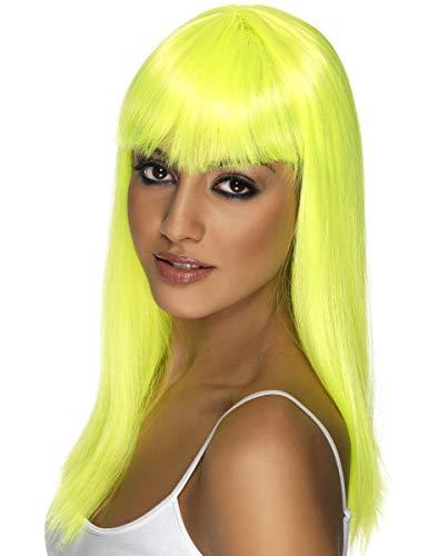 Generique - Parrucca Glamour Giallo Fluo donnaParrucca Glamour Giallo Fluo Donna M