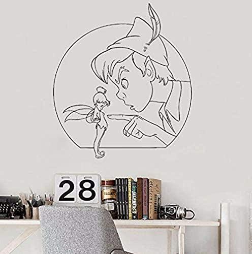 Adesivi murali,tatuaggi muraliArt Adesivi e murales Camera da letto Peter Pan Fairy Tale Magic Cartoon Game Room Adesivi 42x47cm