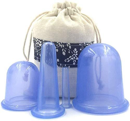 Coppettazione Terapia Set Vacuum massaggio Cup Kit Cupping Therapy Set for Face - Doppio mento Reducer - Viso Cupping Set - Ideale for la Coppa vostre guance, mento e labbra - facciali Coppettazione -