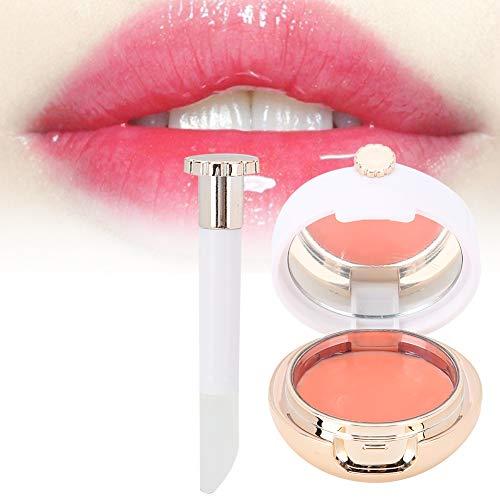 12g Crema per dormire con labbro con pennello per labbra, riparare la pelle delle labbra e idratare anti-rughe Balsamo per le labbra nutriente Cura delle labbra 12g