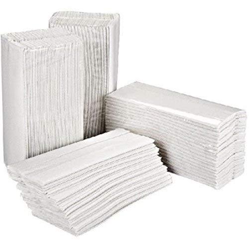 Asciugamani ripiegati a C o a V - 2 veli - bianco - 12 cf da 250 pz Totale 3000 pz ecolabel