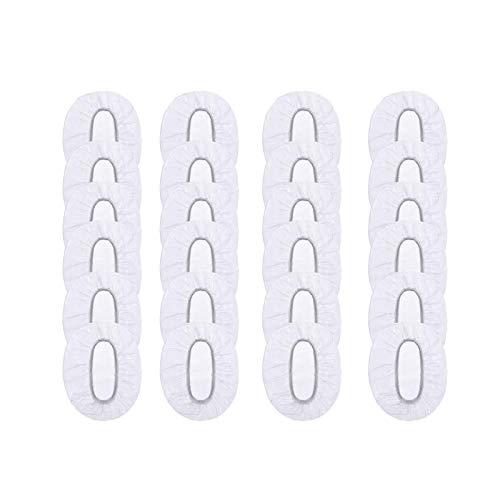 JZZJ 100 Pezzi Trasparente Monouso Doccia Orecchio Impermeabile Copertura dell'Orecchio per Tinta per Capelli, Doccia, Bagno