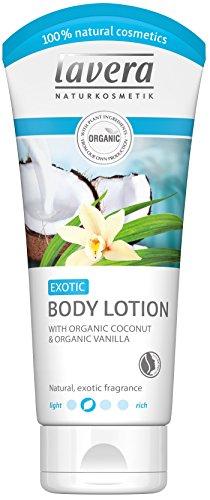 Lavera - Crema corpo esotica alla vaniglia e cocco biologici, vegana e biologica, pelle estremamente morbida, cosmetico naturali, 200ml