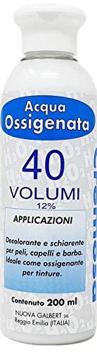 Acqua Ossigenata Cremosa Professionale 40 Volumi per Tinta Nuova Galbert Made in Italy