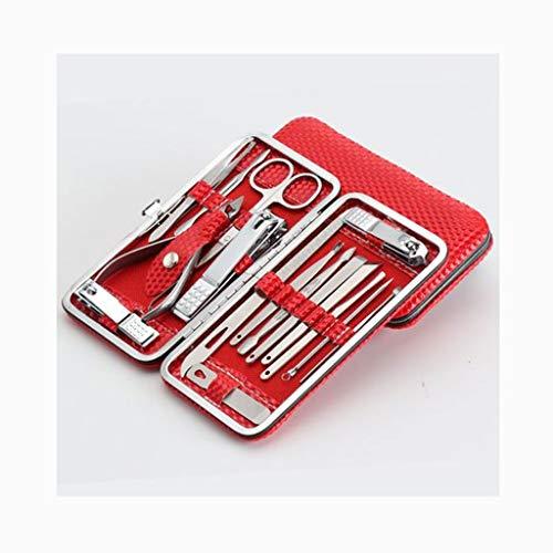 Kiki Set tagliaunghie Nail Clipper Manicure Set 6PCS forbicine Set da Viaggio in Acciaio Inossidabile di Cura del chiodo corredo di Pedicure con Un Caso Portatile Kit Pedicure e Manicure