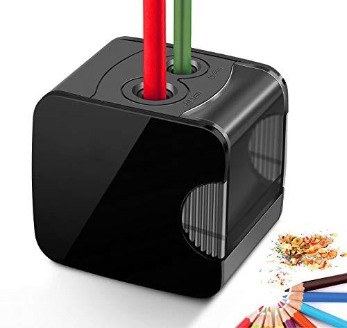 Temperamatite elettrico, alimentato da USB o temperamatite elettronico automatico a batteria resistente per matita n.2 e colorata
