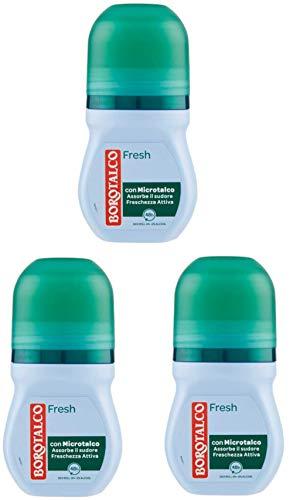 3 X Borotalco Deodorante Fresh con Microtalco - 50 ml