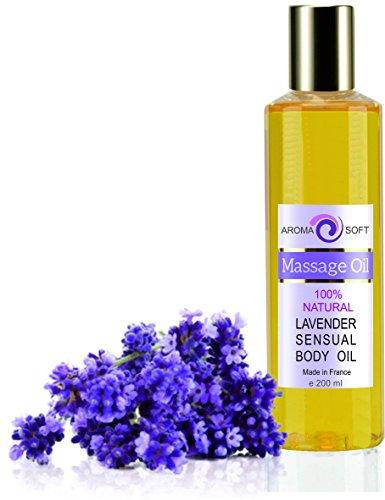 Massaggio Rilassante con olio di Vinaccioli 200 ml IDRATANTE LEVIGANTE ANTIOSSIDANTE (Lavanda)