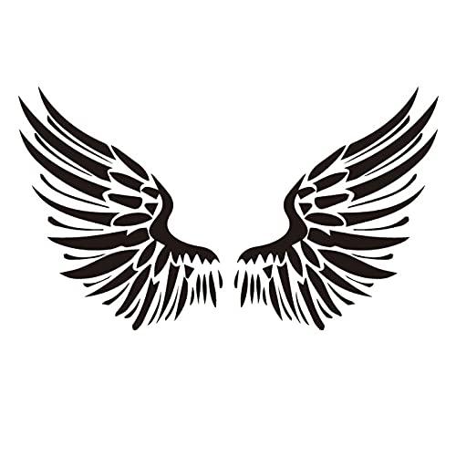 YLGG Adesivi per Tatuaggi temporanei alla Moda con Ali d'Angelo, Adatti per Uomini e Donne, Impermeabili, Rimovibili