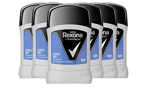 Rexona - Deodorante Stick cobalto, uomo, confezione 6 (6 x 50 ml)
