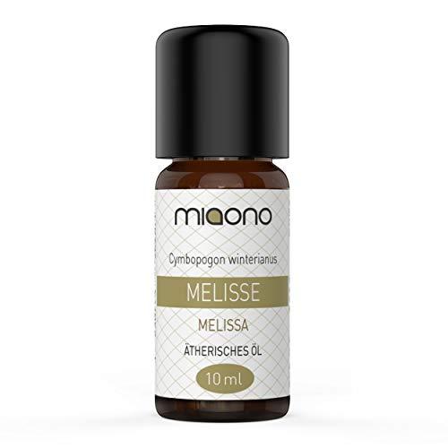 Olio essenziale di melissa, 100% puro olio essenziale (10 ml) di miaono (bottiglia di vetro).