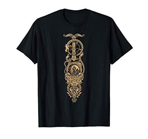 Tatuaggio vichingo di un drago celtico Maglietta