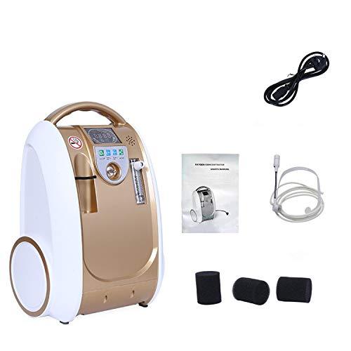 Generatore di ossigeno 1-5L / min 93% Portabl regolabile Concentratore di ossigeno macchine Macchina dell'ossigeno d'aria Casa AC110V / 220V Umidificazione dell'ossigeno