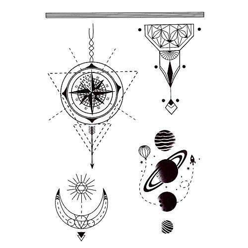 Tatuaggi per uomo con bussola, tatuaggi Fake Tattoo J510