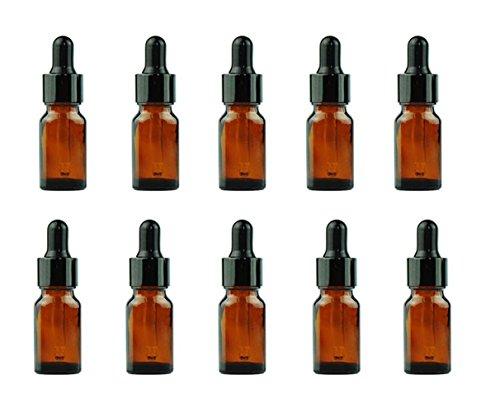 12 ambra 10ml olio essenziale bottiglie di vetro bottiglie vasetti ricaricabili trucco cosmetici campione bottiglia contenitore con vetro occhio contagocce olio essenziale per aromaterapia