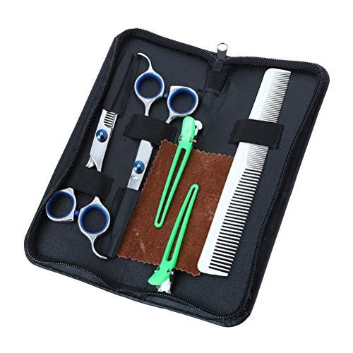 SUPVOX Set di Forbici Professionali da Parrucchiere in Acciaio Inossidabile per Capelli Barbiere
