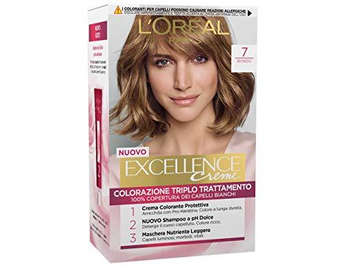 3 X L'OREAL EXCELLENCE CREME 7 BIONDO Tintura per capelli colorazione colorante