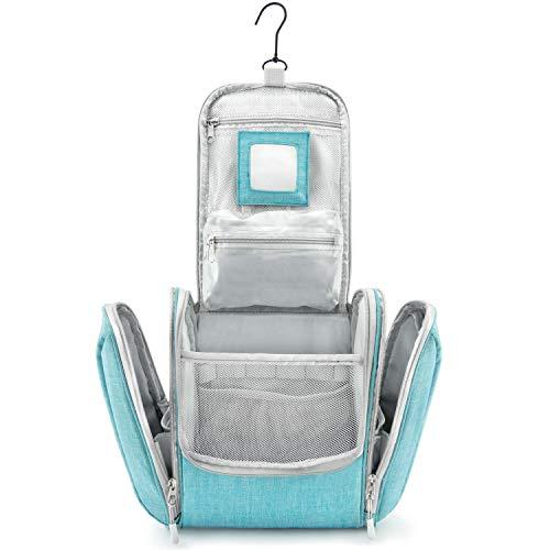 GO!elements® borsa da toilette per appendere uomini e donne | borsa cosmetica grande uomo donna per valigie e bagagli a mano | borsa da viaggio wash bag, Color:Turchese