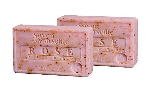 2 saponette di Marsiglia - ROSA - Prodotto in Francia