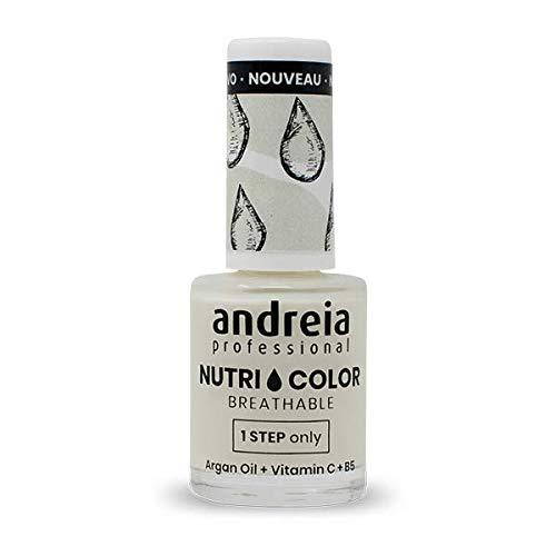 Andreia Professional NutriColor - Smalto per unghie Vegan Traspirante - Colore NC2 Crema - 10.5ml